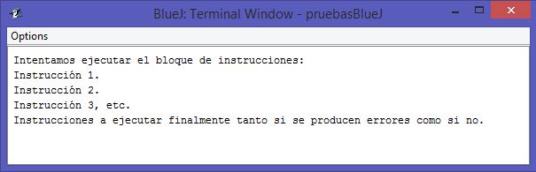 Gestion excepciones java try catch
